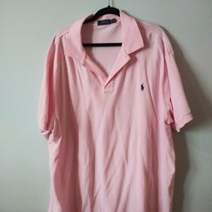 Polo by Ralph Lauren light pink mens polo shirt